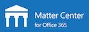 matter center blue background