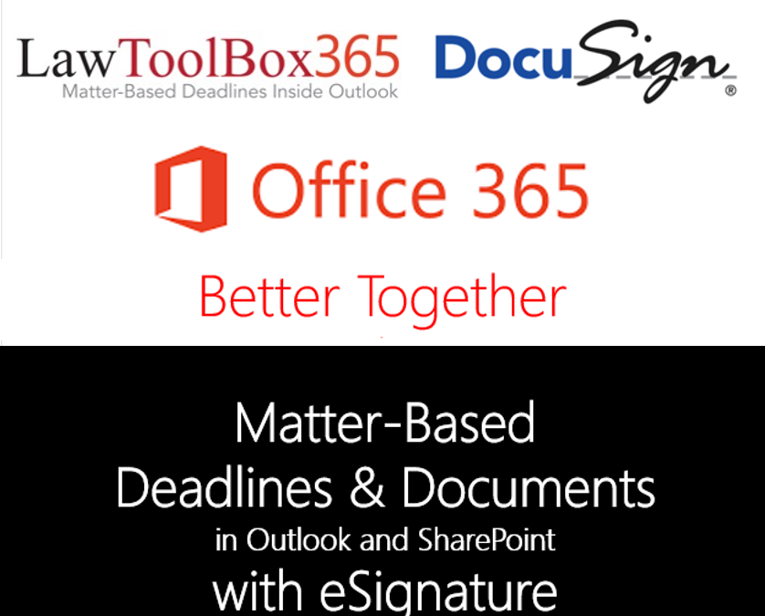 PRESS RELEASE – LawToolBox and DocuSign to Deliver deadlines, documents and eSignature for Microsoft Office 365