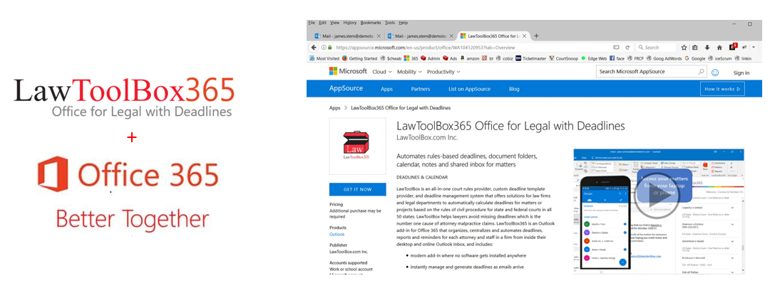 Now its easy for Corporate Legal departments to get LawToolBox365 in Microsoft