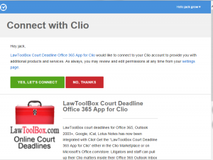 connect with clio