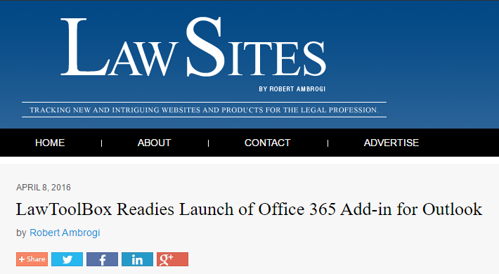LawToolBox Readies Launch of Office 365 Add-in for Outlook