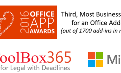 Award Most Business Value for Office Add-in 2016