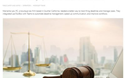 Microsoft Office Customer Story – Teams for Legal