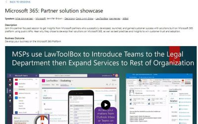 LawToolBox Outlook Add-in & Teams App are Among the First Available SaaS Offers for Purchase in the Microsoft Commercial Marketplace